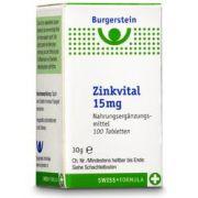 Burgerstein Zink Vital Tabletten 15mg 100 Stück